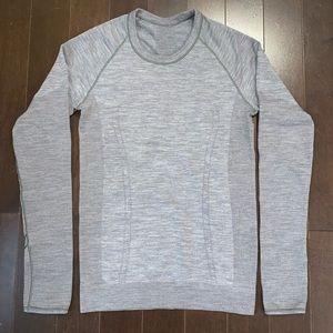 lululemon athletica Sweaters - Lululemon Swiftly Wool Pullover Titanium/White